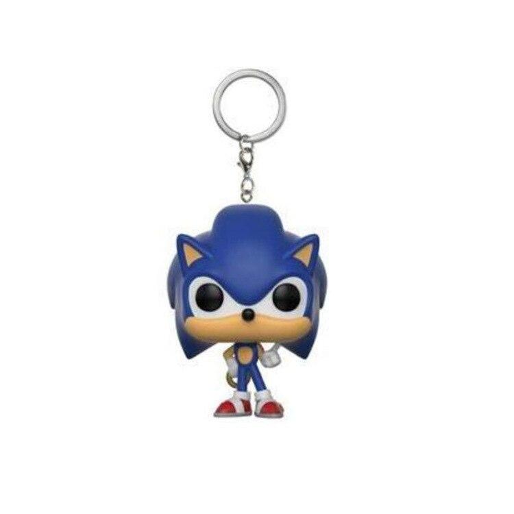 LLavero de bolsillo Super Sonic Viny figura coleccionable juguetes para niños