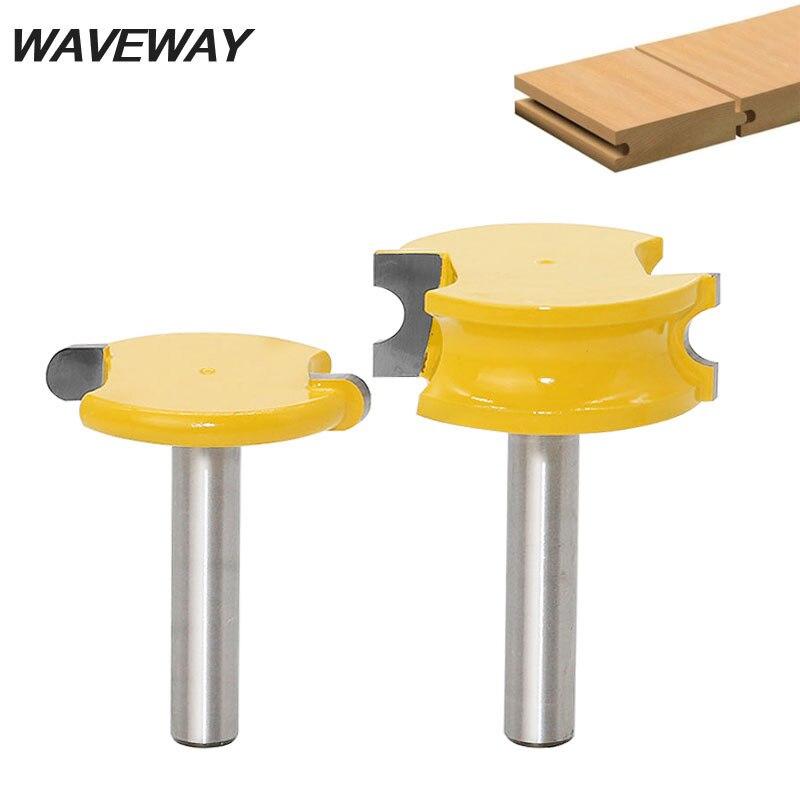 WAVEWA 8mm vástago canoa flauta y cuentas Router Bit Set carpintería aleación de tungsteno y cobalto madera tenón fresa fresas herramientas