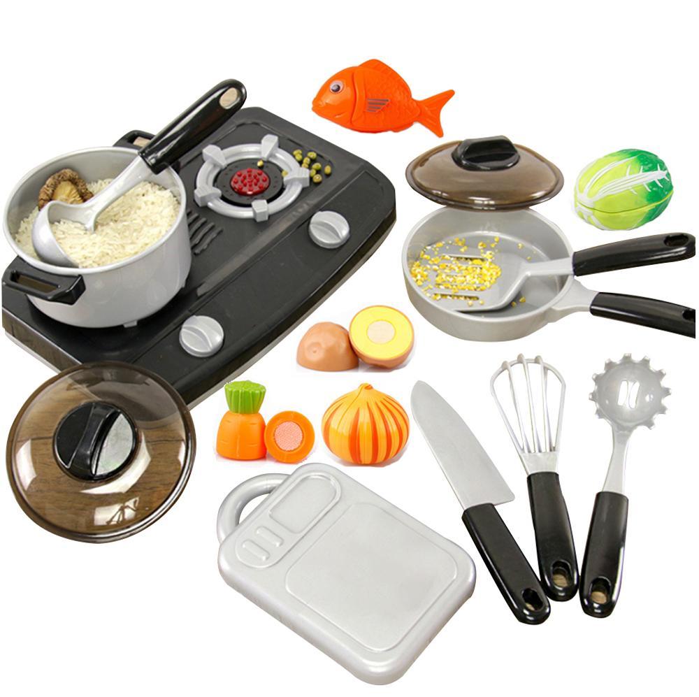 Набор кухонных принадлежностей 14 шт., кастрюли и сковородки для завтрака