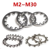 with teeth inner and outer lock washer 304 stainless steel m3 m4 m5 m6 m8 m10 m12 m14 m16 m20 m22 m24 m30