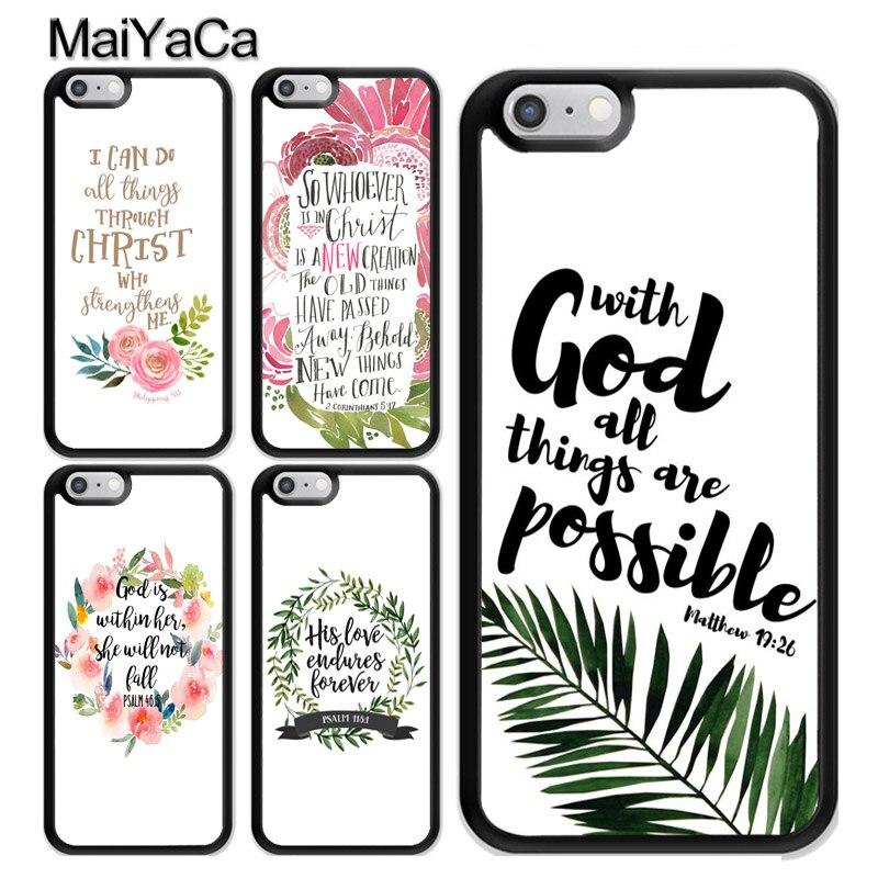 La Biblia Qutoes verso creencia Dios Jesús TPU caso para iPhone 11 Pro MAX X XR XS MAX SE 2020 6 7 8 Plus 5s cubierta Coque