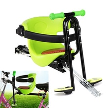 Siège de vélo enfant enfants vélo électrique avant chaise bébé selle coussin transporteur Sport sécurité Stable avec accoudoir et pédale 1pc