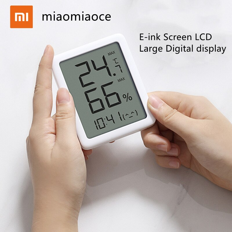 Датчик температуры и влажности Xiaomi Youpin miaomiaoce MMC, большой цифровой ЖК-дисплей, гигрометр