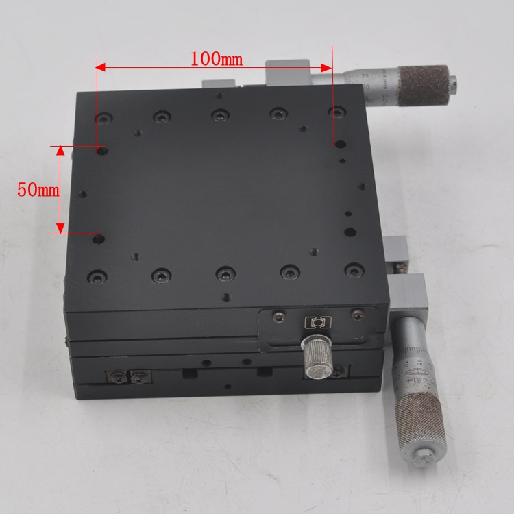 XY axis two-dimensional CHUO 125 * 125mm manual high-precision displacement slide optical fine-tuning platform iron enlarge