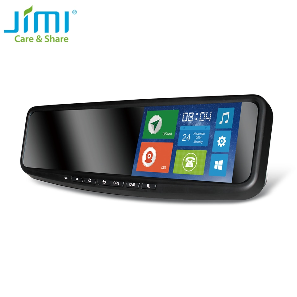 JIMI JC600 2G/3G coche espejo DVR bluetooth GPS Navigator alarma con el mapa de Google 5 pulgadas de pantalla táctil Android APP PC