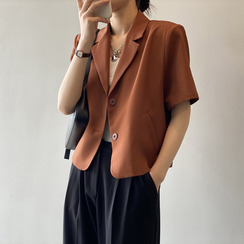 short sleeve women summer short sleeve coat 80158#