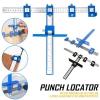 cabinet hardware jig adjustable punch locator drill guide sleeve woodworking drilling dowelling tool for door handles j8