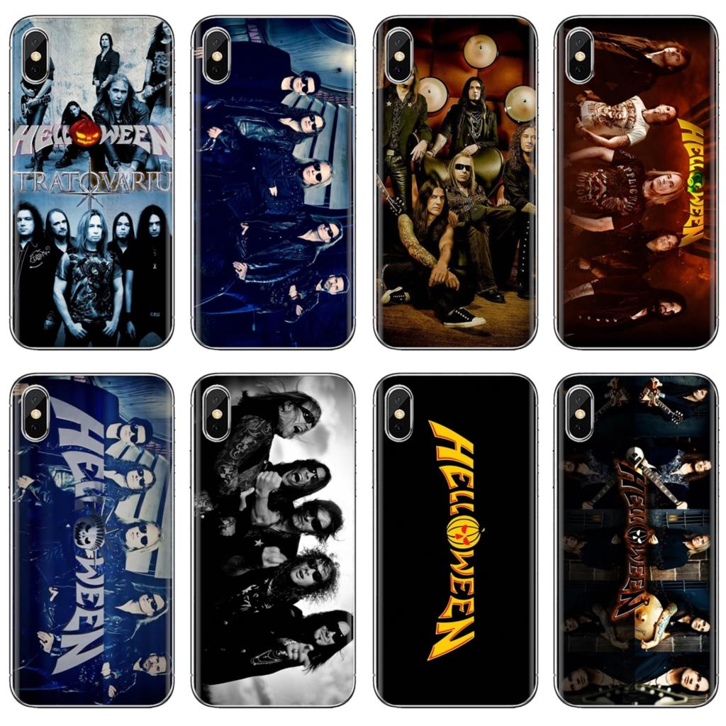 Helloween Speed Metal Band Logo Soft Skin Case For iPhone iPod Touch 11 12 Pro 4 4S 5 5S SE 5C 6 6S