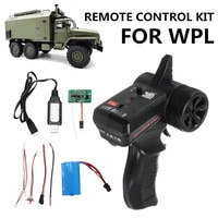 Запчасти WPL B36 B24 B16 C24 1/16 для РУ автомобилей, плата приемника передатчика, батарея, USB-кабель набор проводов, запасные части, аксессуары, 8 шт.
