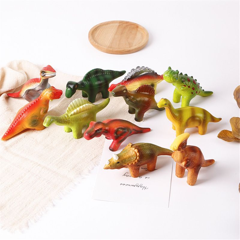6 Pieces Dinosaur Squishy Toys Set for Slow Rising Stress Relief Super Soft enlarge