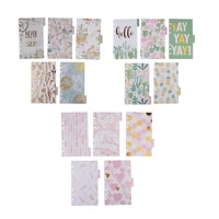 5 Pack A6 Paper Tabbed Paper Dividers Index Tabs Pages for Paper Filing Planner