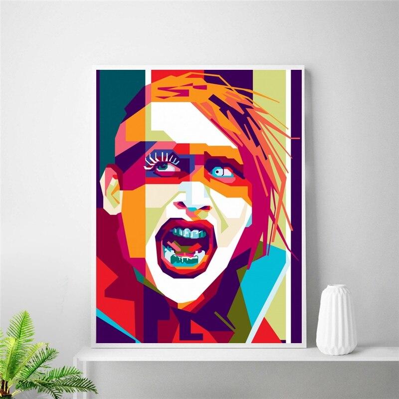 Póster lienzo artístico Marilyn Manson pintura decoración de habitación