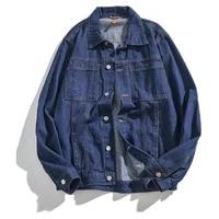 mens clothingnew denim jacket spring and autumn multi pocket lapel jacket street trend motorcycle jacket mens retro clothes