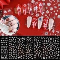 christmas winter snowflake nail art applique decoration self adhesive nail stickers manicure design white snowflake sticker