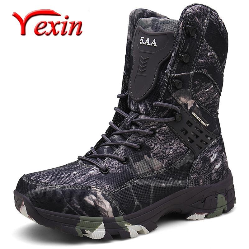 جديد للماء الرجال التكتيكية الأحذية العسكرية الصحراء الأحذية المشي التمويه عالية أعلى الصحراء الرجال الأحذية أزياء العمل الرجال الأحذية