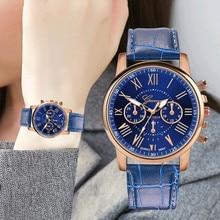 Relogio Fashion Women Watch Faux Leather Band Quartz Watch Retro Design Top Brand Luxury Watches Lad