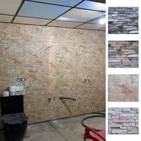 Autocollants muraux 3D en mousse auto-adhesive  panneaux de papier peint doux pour decoration de maison  salon  chambre a coucher  salle de bains