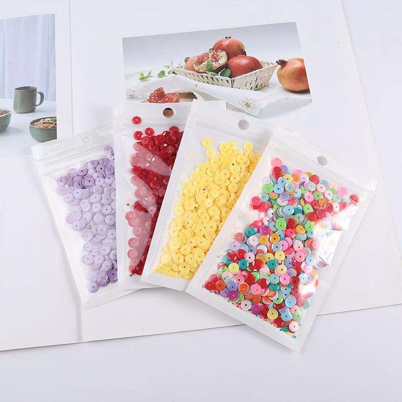 Savica 20 g/lote 6mm pvc solto redondo glitter lantejoulas copo grânulos para artesanato paillette costura decoração diy acessórios de roupas lx095