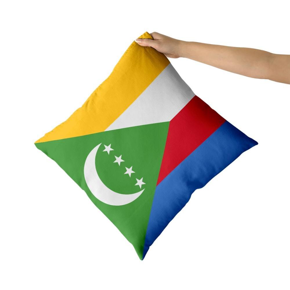 Fundas de almohada de algodón Comoros, fundas personalizadas, fundas de almohada, regalos personalizados
