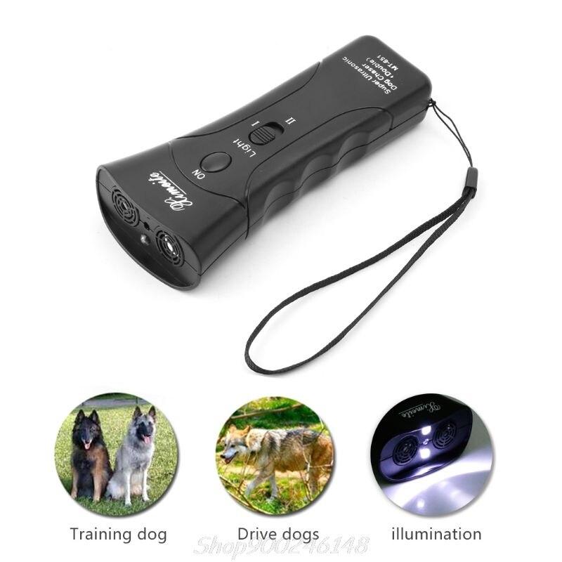 New Ultrasonic Dog Chaser Stop Aggressive Animal Attacks Repeller Flashlight Jy24 20 Dropship