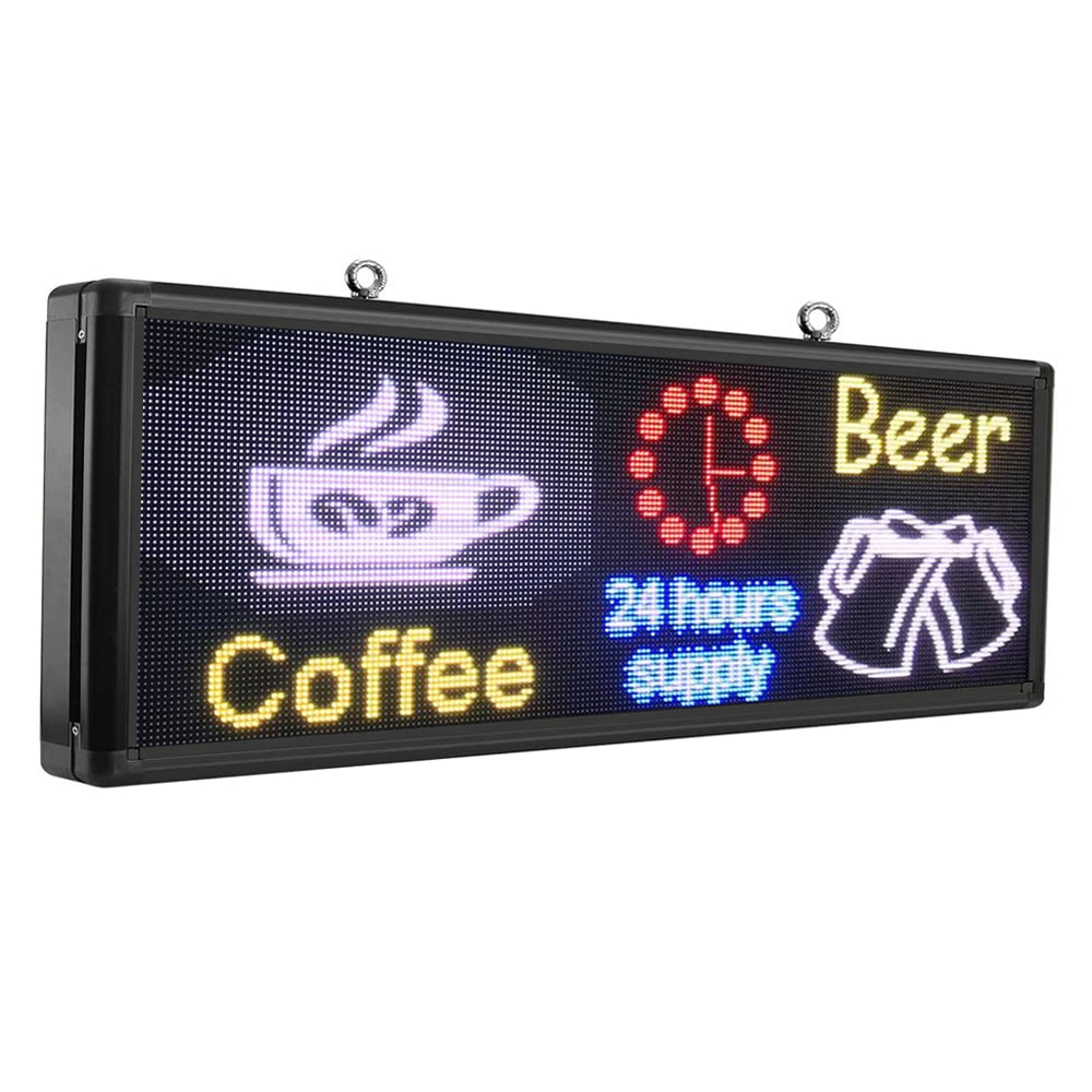40x15inch 192x 64 Pixels P5 Full Color Outdoor LED Sign RGB Video Image Flash LED Display Programmable Scrolling Message Board