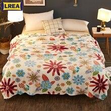 Couverture polaire de corail de haute qualité   Couverture polaire de corail bon marché sur le lit, doux hiver pour canapé couvre-lit confortable