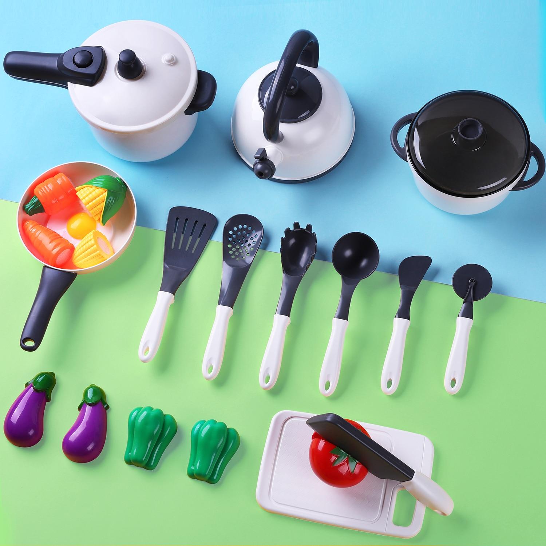 Iplay, ilearn crianças acessórios de cozinha playset, fingir jogo cozinhar conjunto, presente para 3 4 5 anos de idade