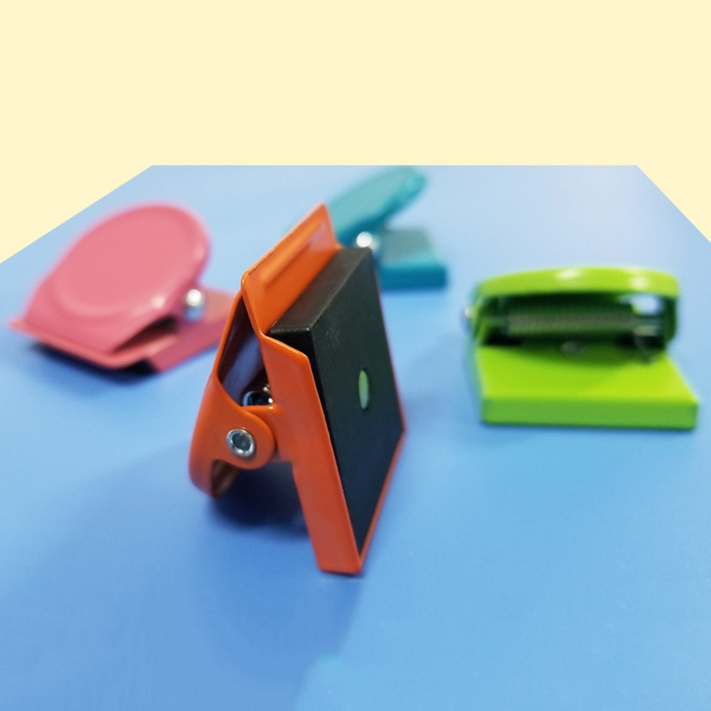 12 шт. цветные металлические клипсы, магнитные клипсы, магниты для холодильника, зажимы для записей, клипсы для еды для офиса, школы, дома