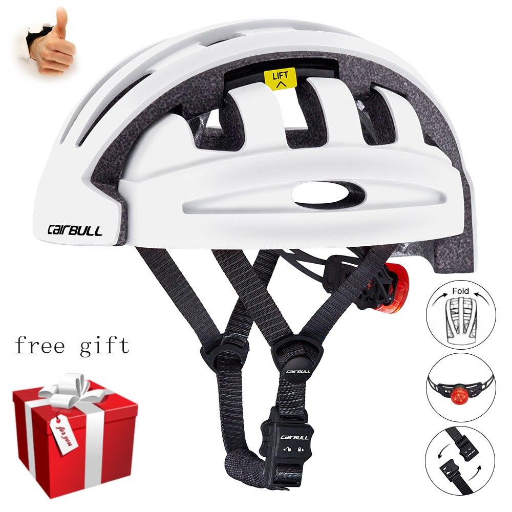 Cairbull FIND-Casco de Ciclismo plegable Para Hombre, casquete moldeado integralmente, Para Bicicleta...
