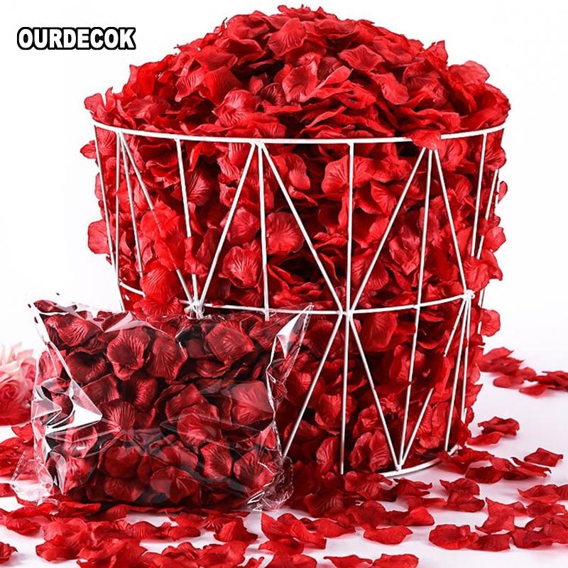 500 unids/lote Artificial De la flor Artificial accesorios De la Boda pétalos...