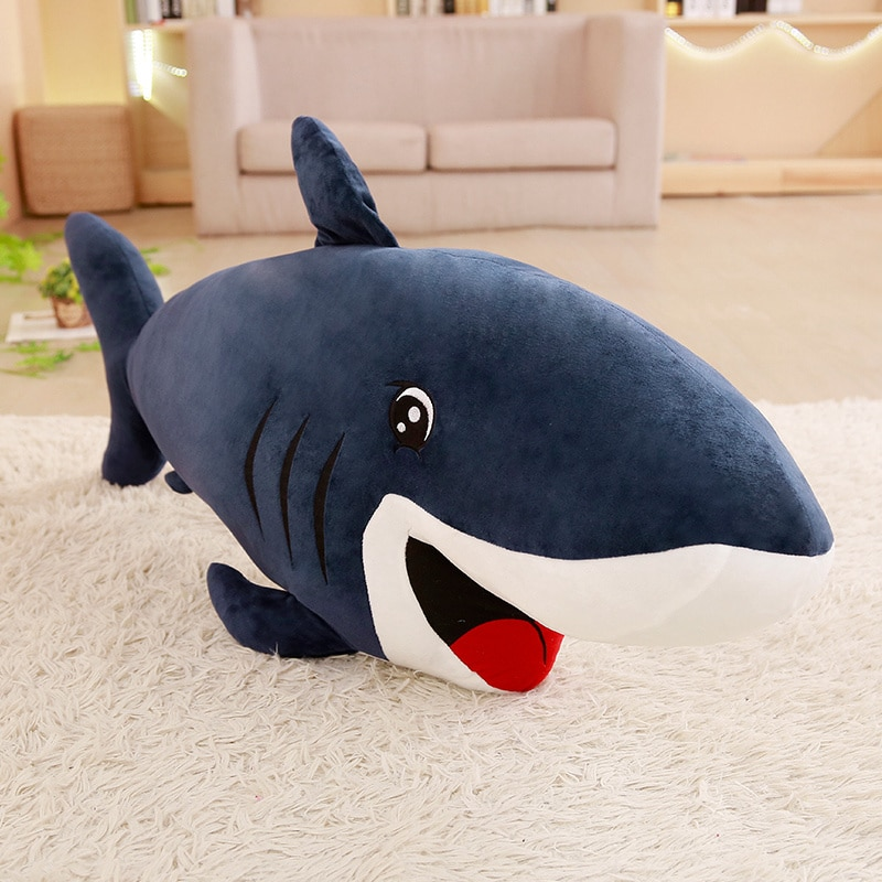 Nice Hot Giant Plush Sharks Toys Stuffed Sea Fish Animals Big Size Shark Doll Pillows Cushion Toys for Children Birthday Gifts  - buy with discount