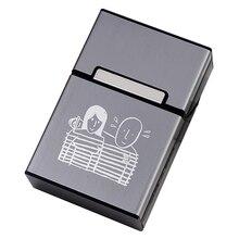 Etui à cigarettes plastique 20 bâtons   Design pour Couple, couvercle magnétique, cadeau de fumée pour homme, marquage Laser, LOGO personnalisé, sur mesure