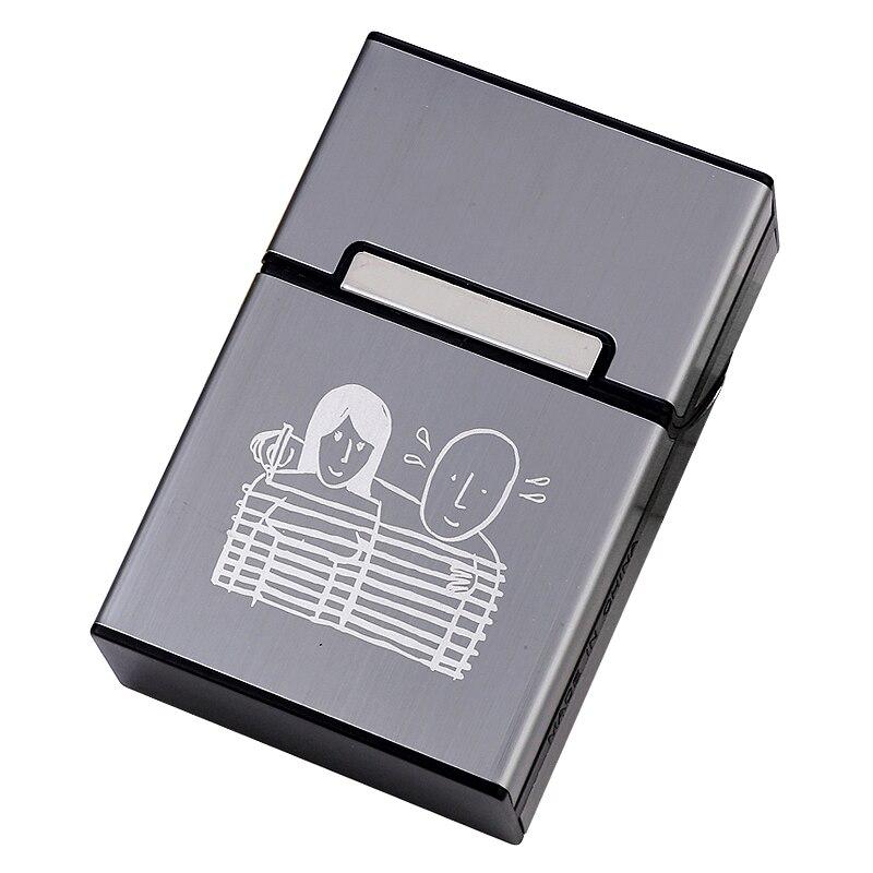 20 Sticks Zigarette Fall Box Paar Design Kunststoff Magnet Abdeckung Rauchen Geschenk Für Mann Laser Kennzeichnung LOGO Personalisierte Nach Maß