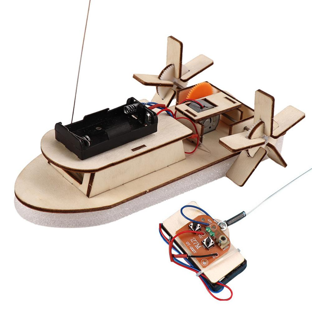 Wooden Remote-controlled Ship Designer Electric for Student Science Technology Production DIY Electr
