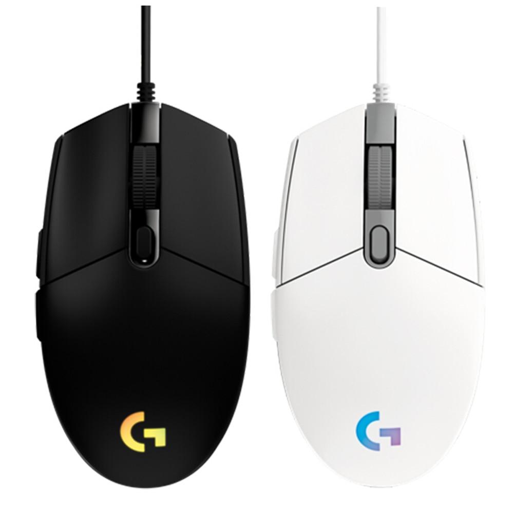 Logitech Original Prodigy – Lightsync Gaming Mouse Óptico 8000dpi 16.8m Cor Led Personalizando 6 Botões Wired G102 ic