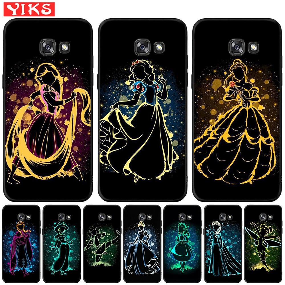 Rapunzel nieve blanco Bell princesa teléfono caso para Samsung Galaxy A3 A5 A6 A7 A8 2016 2017 A9 Plus 2018 a20 A30 A50 cubierta Fundas