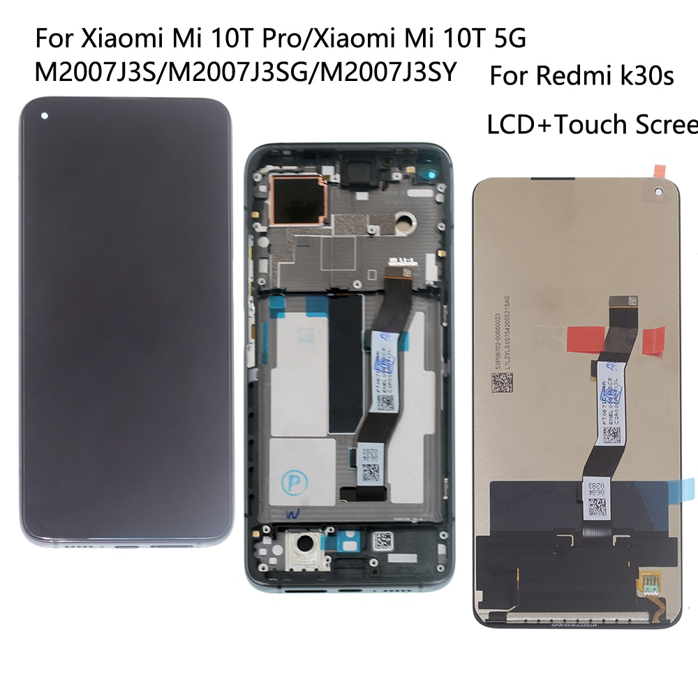 Original For Xiaomi Mi 10T Pro LCD M2007J3 Touch Screen Display Digitizer Assembly For Xiaomi Mi 10T 5G LCD For Redmi k30s LCD недорого