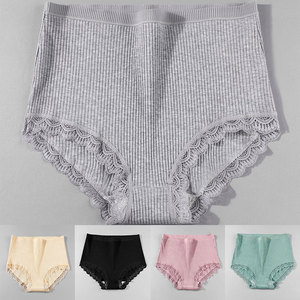 Cotton Panties Woman Sexy Lace Briefs Fashion Solid Color knickers Girls Bow Underpants Set v Dropshipping