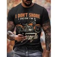 2021 summer menswear retro t shirt 3d road motorcycle rider t shirt hip hop fashion casual quick dry xxs 6xl