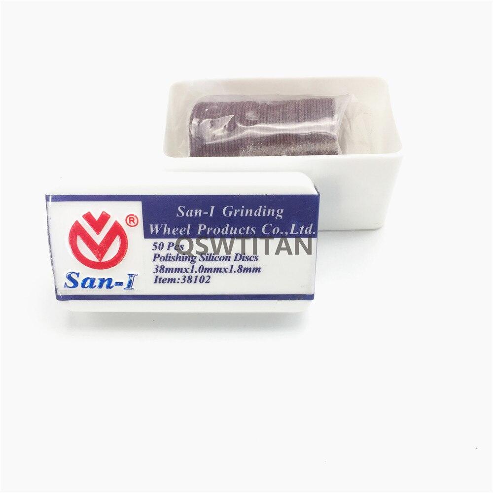 Dental Lab Technician Materials San-1 Polishing Silicon Discs For Metal Copings 38*1.0*1.8mm,50 pcs/box