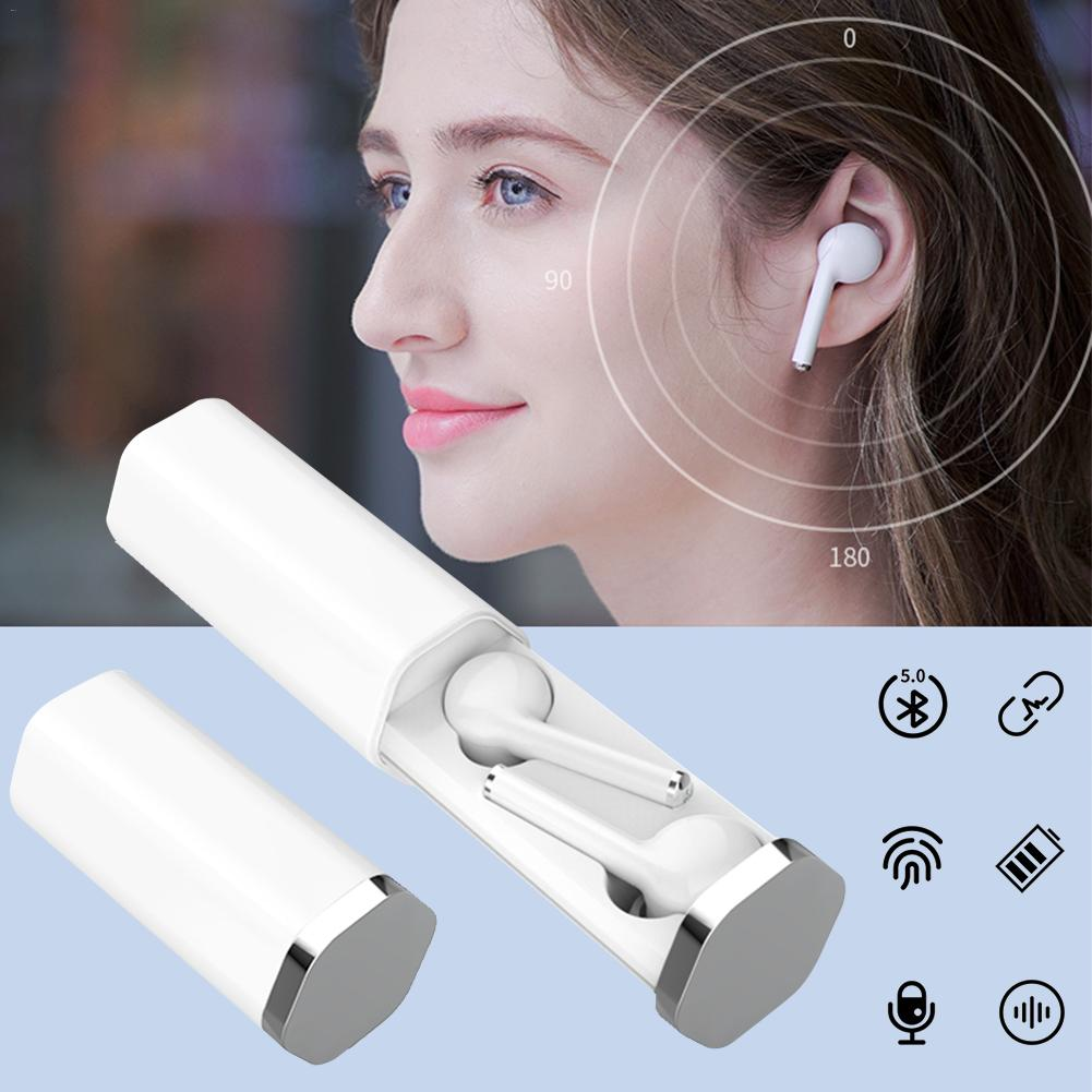 V5.0 estéreo bluetooth fone de ouvido fone de ouvido único e duplo separado 400 mah toque sem fio bluetooth fones para azul notícias