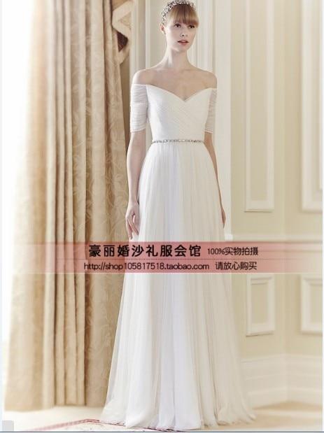 Vestido de noche de 2018 nuevo vestido de moda barato de manga corta con cinturón de cristal vestido de fiesta largo Formal de Madre de la Noche vestidos de novia