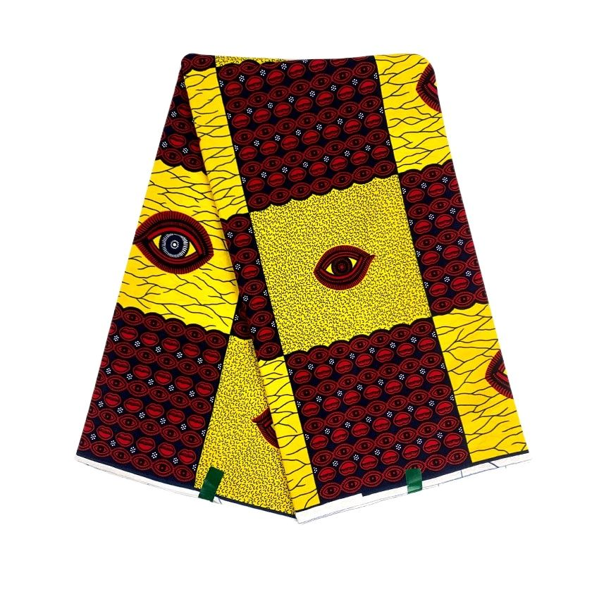 African wax tissus real wax 6yard/lot 2021ankara print wax high quality African fabric wax print for sewing dress недорого