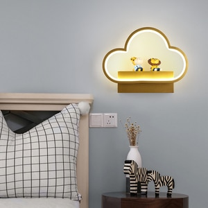 Creative 13W 18W Bedroom Wall Lamp without Wiring Cute Cartoon Animals Lamp for Living Room Study Children's Room Bedside