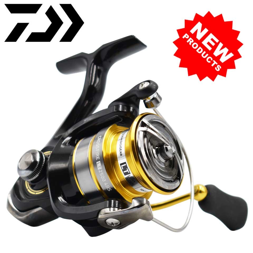 DAIWA Reel CROSSFIRE LT Spinning Fishing Reel 1000-6000 ABS Metail Spool 5-12KG Power Hard Gear Light & Tough Body