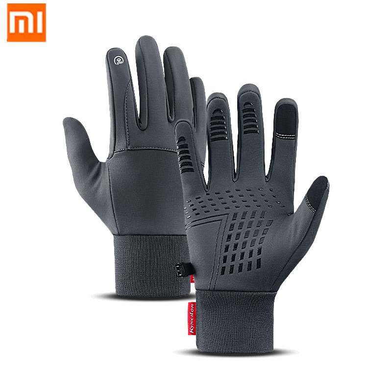 XiaoMi mijia warm windproof gloves touch screen water repellent non-slip wear-resistant riding sports gloves winter