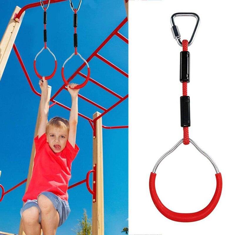 Anillos de barra giratoria para exteriores, anillo Gimnástico, anillos colgantes para escalar, accesorios para niños, equipo de escalada, patio de juegos para niños