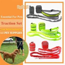 Pet Elastic Belt Running Dog Leash Set Hands Free Dog Leash Collar Pet accessories Puppy Dog Harness Leash For Animals KO879924