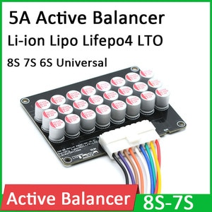 6S 7S 8S 24V 5A Active Equalizer Balancer Li ion Lipo Polymer Lifepo4 LTO Lithium Battery BMS Energy transfer Balance board CELL