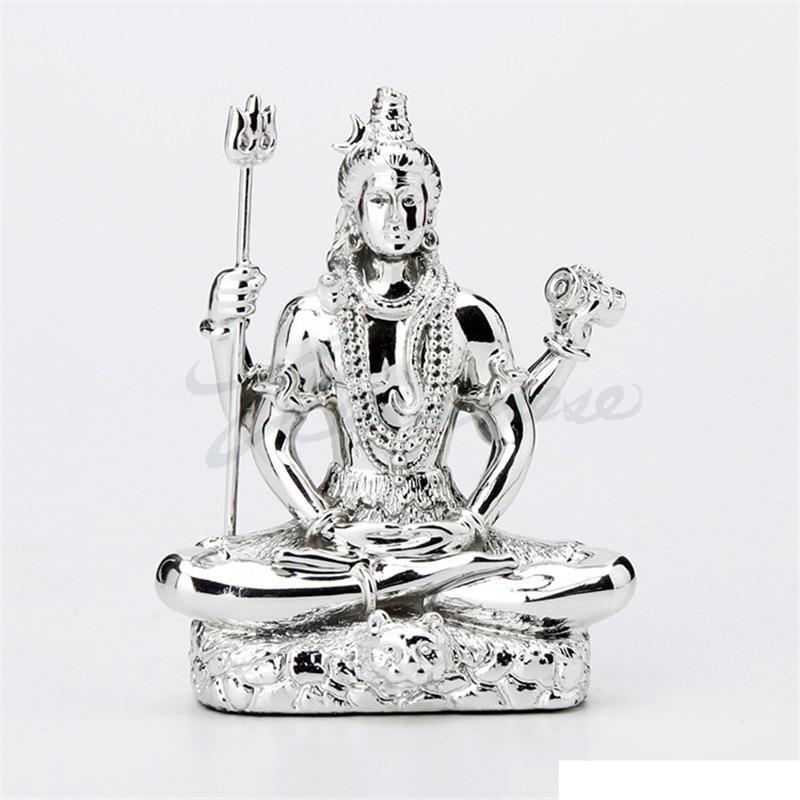 Plating India Buddha Figurine Shiva Statue Creative Resin Crafts Home Decoration Birthday Gift R3717